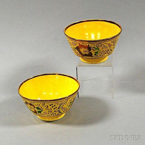 Pair of Staffordshire Creamware Bowls