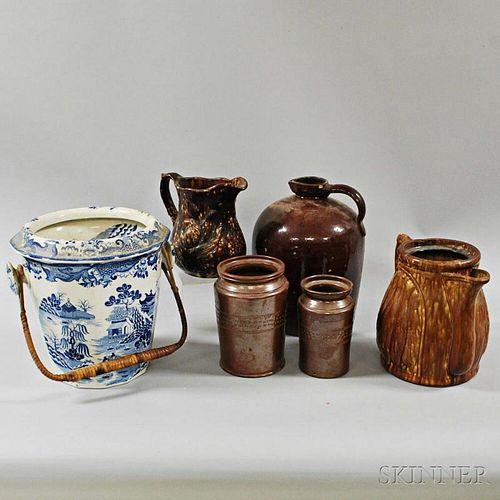 Six Stoneware Vessels