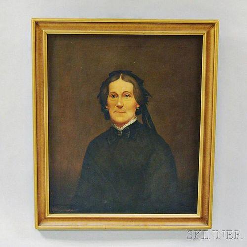 Joseph Goodhue Chandler (American, 1813-1884)       Portrait of Emily Chellis