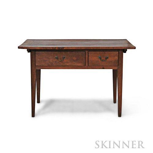 Walnut Two-drawer Tavern Table