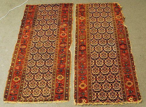 Two Bidjar Long Rug Fragments