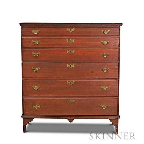 Chippendale Red-stained Maple Blanket Chest
