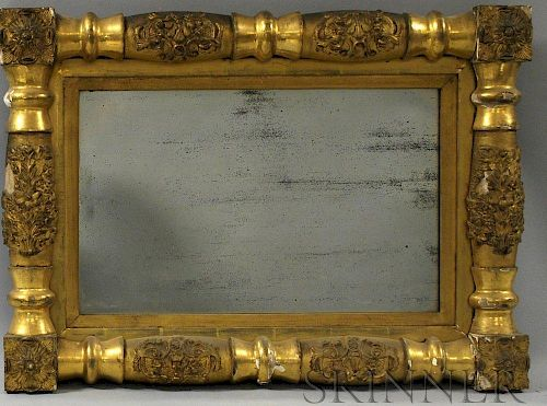 Small Classical Gilt-gesso Split-baluster Mirror