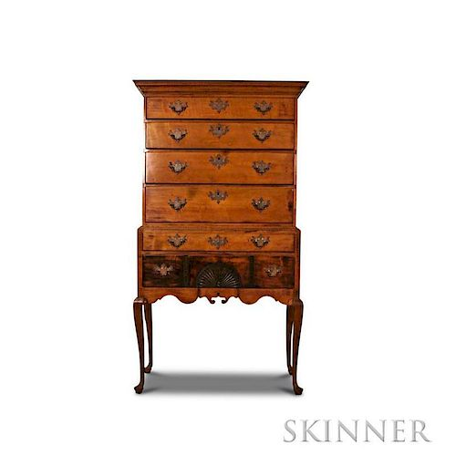 Queen Anne Carved Maple High Chest