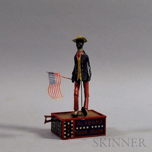 "Marke Lehmann ""Alabama Coon Jigger"" Tin Windup Toy"