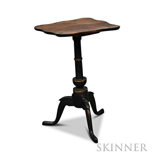 Federal Black-painted Birch Candlestand