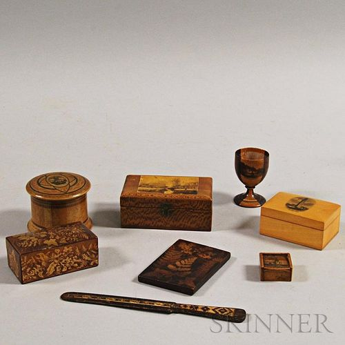 Eight Pieces of Mauchline Ware
