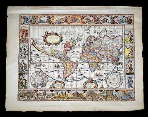 Blaeu World Map.Willem Blaeu Nova Totius Terrarum Orbis Geographica Ac Hydrograpica