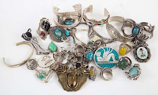 A Bag of Native American Jewelry