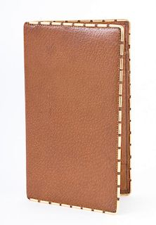 A Gentleman's Gold and Leather Wallet