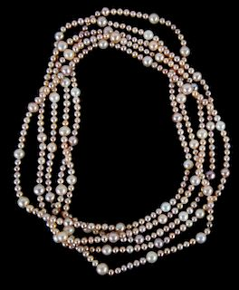 A Strand of Pink Freshwater Pearls