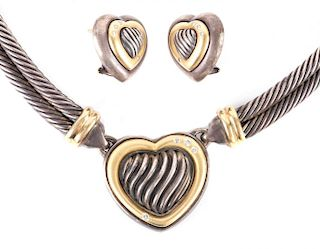 A David Yurman Earring and Necklace Set
