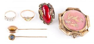 A Diamond Band and Assorted Jewelry