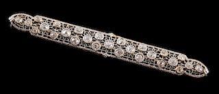 A Classic Diamond Bar Pin