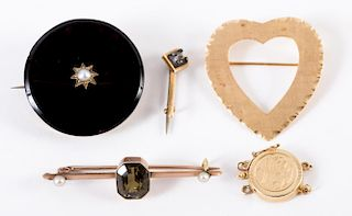 A Collection of Brooches