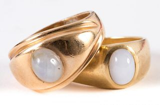 A Pair of Gentlemen's Star Sapphire Rings