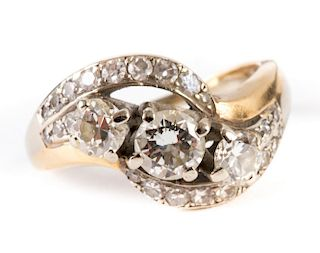 A Gold Trilogy Diamond Ring