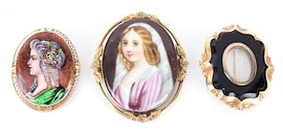 A Pair of Miniature Portraits and Locket