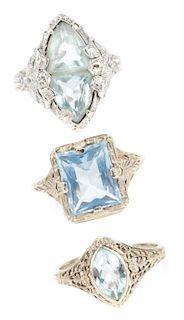 A Trio of Art Deco Filigree Rings