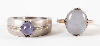 Two Gold Star Sapphire Rings