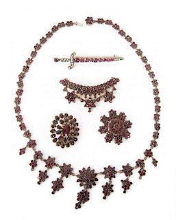 A Collection of Bohemian Garnet Jewelry