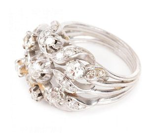 A Lady's Diamond Cocktail Ring