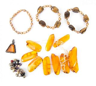 Amber and Tiger's Eye Jewelry