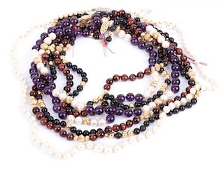 Four Beaded Necklaces
