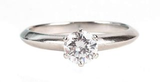 A Tiffany and Co. Diamond Solitaire Ring