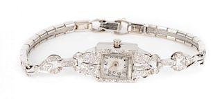A Lady's Diamond Cocktail Watch