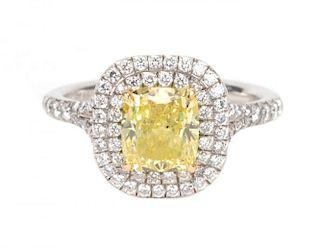 "A Tiffany & Co Yellow Diamond ""Soleste"" Ring"
