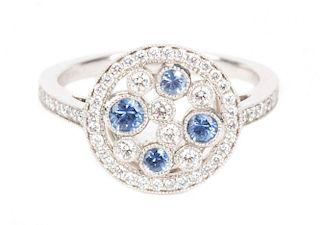 """A Tiffany & Co Platinum """"Cobblestone"""" Ring"""