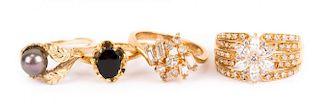 Four Ladies' Gold Rings