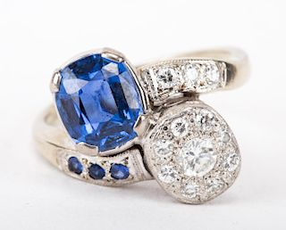 A Spectacular Sapphire and Diamond Ring