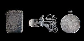 Three continental silver personal items
