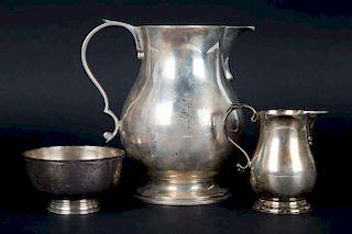 S.J. Shrubsole pitcher, creamer and sugar bowl