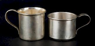 Two American sterling silver child's cups