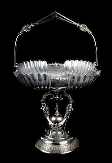 Aesthetic silver-plated bride's basket