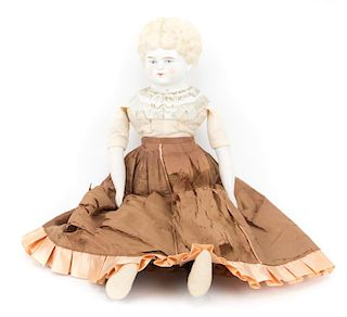 Bisque and cloth doll