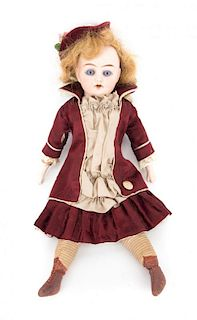 German bisque and cloth doll