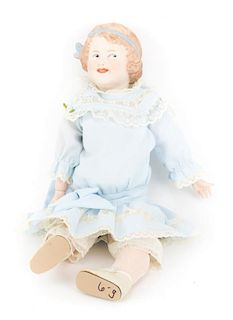 Heubach bisque and composition doll