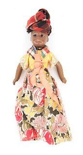 French/German bisque & composition islander doll