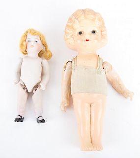 Two German miniature dolls