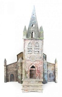 Continental painted sheet metal & tin cathedral