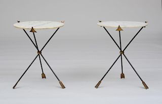 STYLE OF MAISON JANSEN, PAIR OF SIDE TABLES