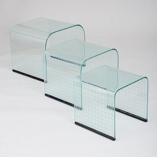 FIAM, SET OF NESTING TABLES, 1980's
