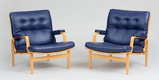 "BRUNO MATHSSON FOR DUX INGRID"" ARMCHAIRS, DESIGNED 1969"""