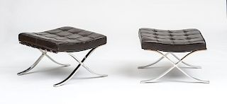 "LUDWIG MIES VAN DER ROHE FOR KNOLL INTERNATIONAL BARCELONA"" STOOLS"""