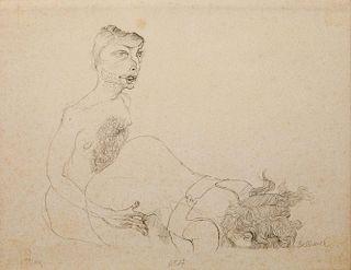 HANS BELLMER (1902-1975): UNTITLED (TWO FIGURES)