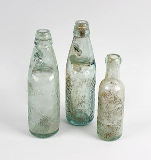 Two boxes containing a large collection of assorted glass bottles Wolverhampton interest, to include